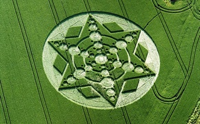 Picture field, nature, UFO, crop circles