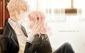 Wallpaper komori yui, wire, art, guy, headphones, anime, students, form, girl, quran sakamaki, diabolik lovers