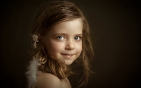 Picture portrait, girl, Little Angels, Lucia