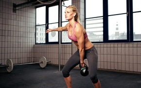 Picture blonde, fitness, training