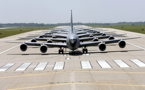 Wallpaper American transport planes, runway, airport