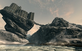 Picture fiction, the game, art, worlds, Skyrim, the College of Winterhold