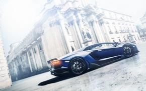 Picture blue, Lamborghini, profile, Lamborghini, blue, LP700-4, Aventador, aventador, Gran Turismo, profile, PlayStation, Gran Turismo 6, …