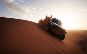 Picture Sand, Dune, Mini, Light, Dakar, Mini, SUV, Rally, Race, X-raid, Mini Cooper, 2014, Auto, Black, ...