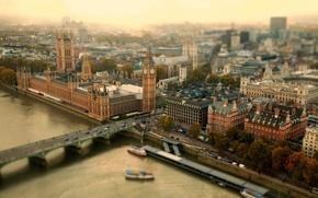 Picture bridge, the city, London
