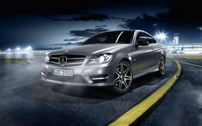 Picture Mercedes, Mercedes, AMG, coupe, C class