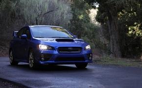 Picture Subaru, blue, wrx, sti