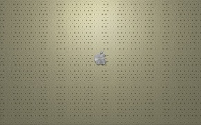 Wallpaper cream, leather, Apple