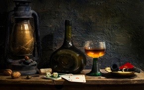 Picture card, glass, bottle, lamp, tube, Indulgence