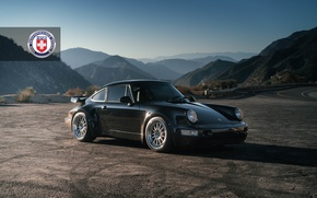 Picture Porsche, Classic, Black, with, 964, Turbo, Clear, HRE, Brushed, 303