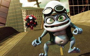 Wallpaper frog, clip, crazy, Crazy Frog, crazy frog