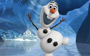 Picture snowman, Frozen, Walt Disney, cold heart, Olaf