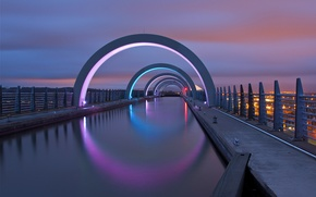 Picture night, city, the city, lights, lights, Scotland, UK, night, Scotland, Great Britain, United Kingdom, Falkirk, …