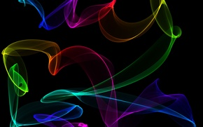 Picture colors, abstract, neon, fractal