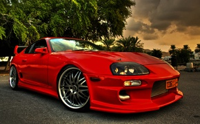 Picture Red, Toyota, Supra