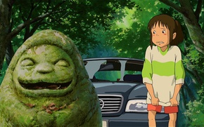 Picture machine, forest, girl, spirited away, Chihiro