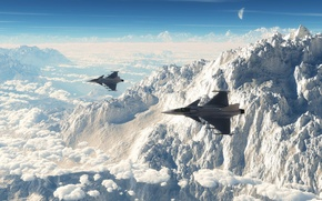 Picture Can JAS 39 Gripen, fighters, aviation, mountains