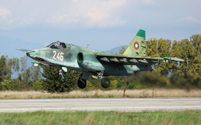 Picture attack, the airfield, Su-25, subsonic, armored