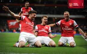 Wallpaper background, Arsenal, tribune, players, Arsenal, Football Club, The Gunners, The gunners, Football club, With Santi ...
