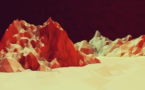 Picture mountains, color, texture, geometry, texture, mountains, color