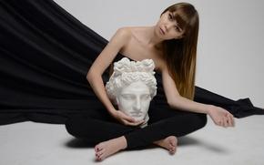 Picture portrait, pose, look, art, model, hair