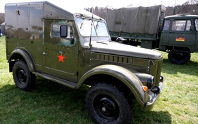 Picture car, Soviet, terrain, GAZ-69, GAZ-69