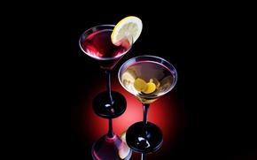 Wallpaper lemon, alcohol, cocktail, olives
