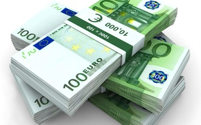 Picture money, Euro, a lot of money