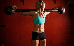 Picture workout, fitness, abs, weight bar