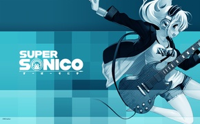 Wallpaper guitar, super soniko, headphones, headphones, guitar