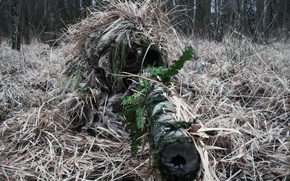 Wallpaper camouflage, sniper, rifle, sight, optics