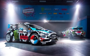 Picture Ford, Racing, Rally, Block, Ken, Fiesta, Unit, Ken, Division, Gymkhana, 2014, Hoonigan