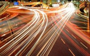 Wallpaper lights, Tokyo, the motorway, Tokyo, home, lights, night city