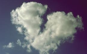 Wallpaper cloud, heart, broken heart, broken love, mood, heart, the sky, clouds