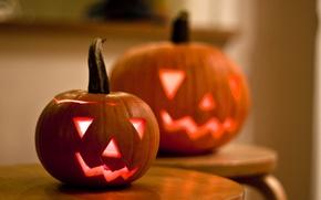 Wallpaper pumpkin, Halloween, holiday