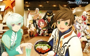 Picture anime, cafe, characters, Tales of Zestiria