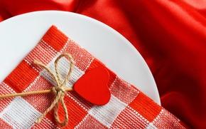 Wallpaper heart, plate, Lollipop, candy, heart, romantic, napkin, Valentine's day