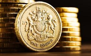 Wallpaper metal, British, shine, currency