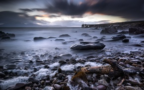 Picture Scotland, Long Exposure, Stormy sunset