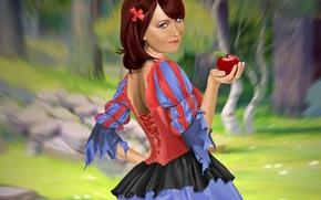 Picture girl, Apple, Snow white, danliz