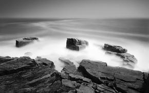 Wallpaper black and white, stones