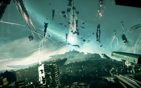 Picture ships, battle, Killzone Shadow Fall