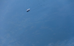Picture water, boat, minimalism