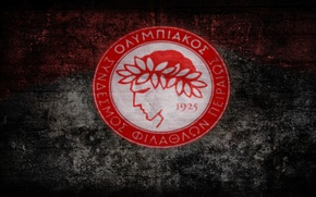 Picture football club, Greek, Olympiakos, Red-white
