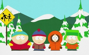 Wallpaper cartoon, South Park, south park