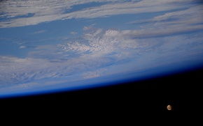 Picture space, the moon, Alaska, ISS