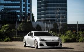 Picture Subaru, White, BRZ, Wheels
