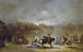 Wallpaper Destiny, picture, bullfighting, Eugenio Lucas Velázquez