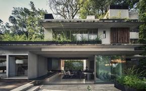 Picture house, furniture, interior, exterior