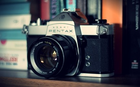 Picture camera, the camera, lens, pentax, camera, old